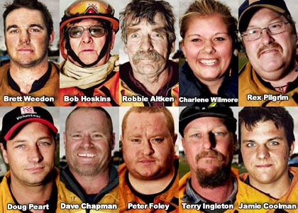 Some of the brave firefighters who fought the Victorian bushfires
