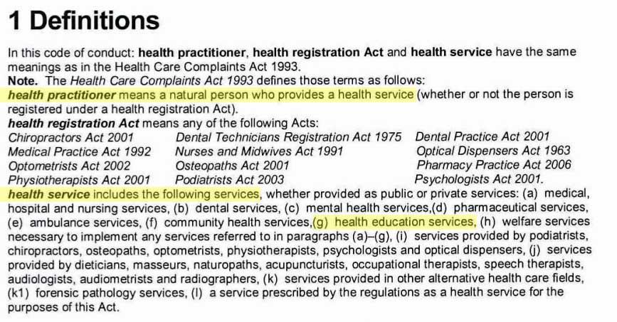 definition health practitioner